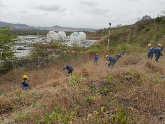 EP Petroecuador realiza trabajos de prevención en Terminal El Chorrillo