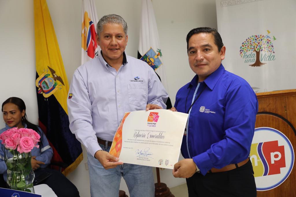 EP Petroecuador implementó lactario institucional en  Refinería Esmeraldas