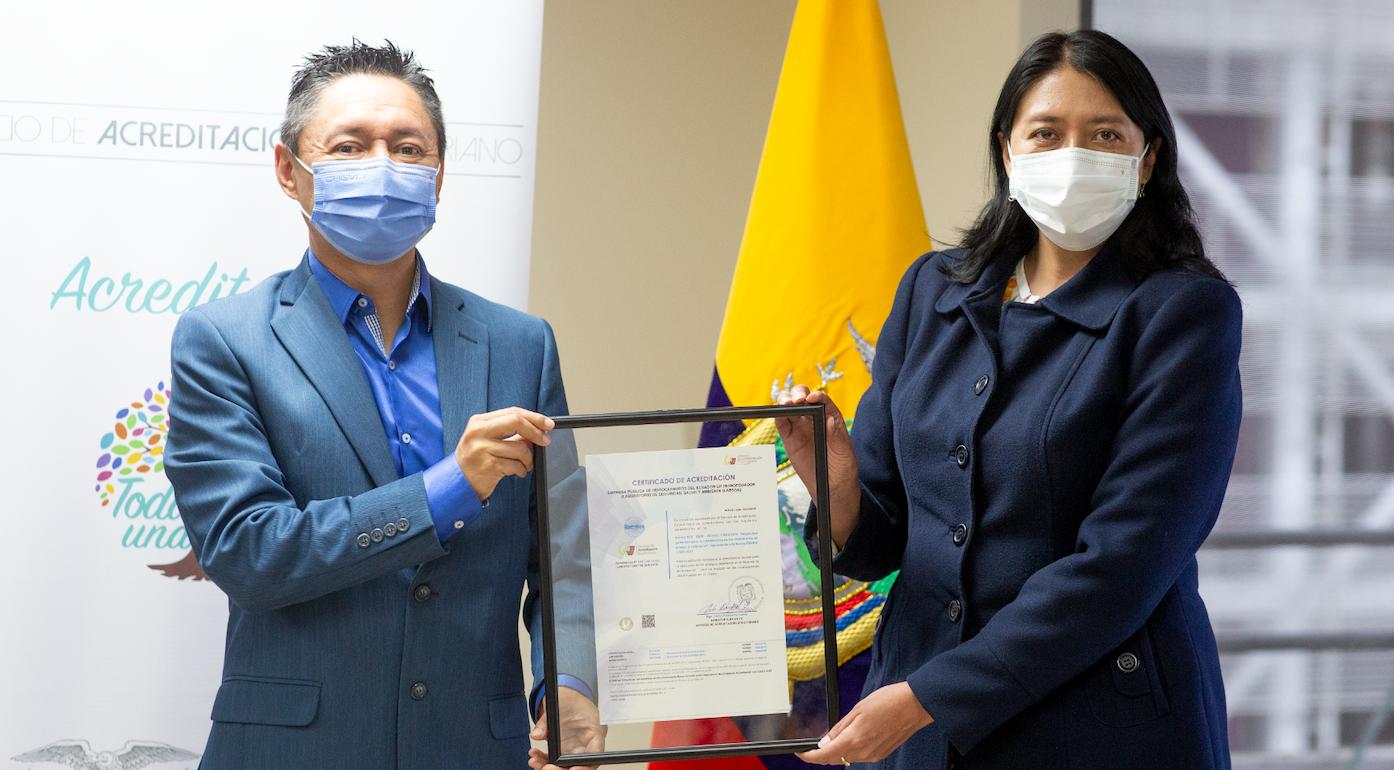 EP Petroecuador recibió la renovación de la Acreditación SAE LEN 11-004 para su Laboratorio de Seguridad, Salud y Ambiente